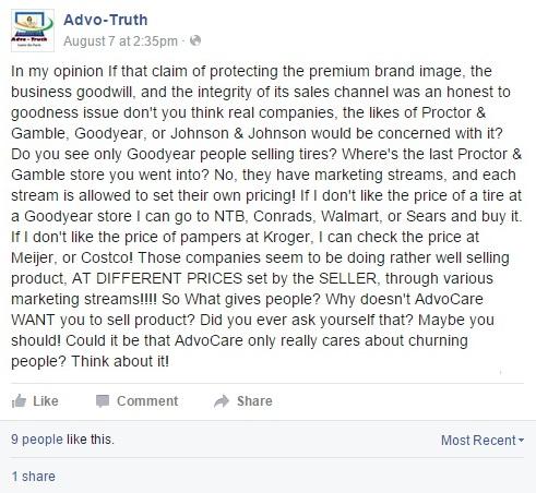 AdvoCareComplaintScam
